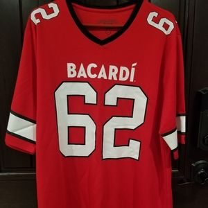 Bacardi Rum Promotional Football Jersey #62RED L